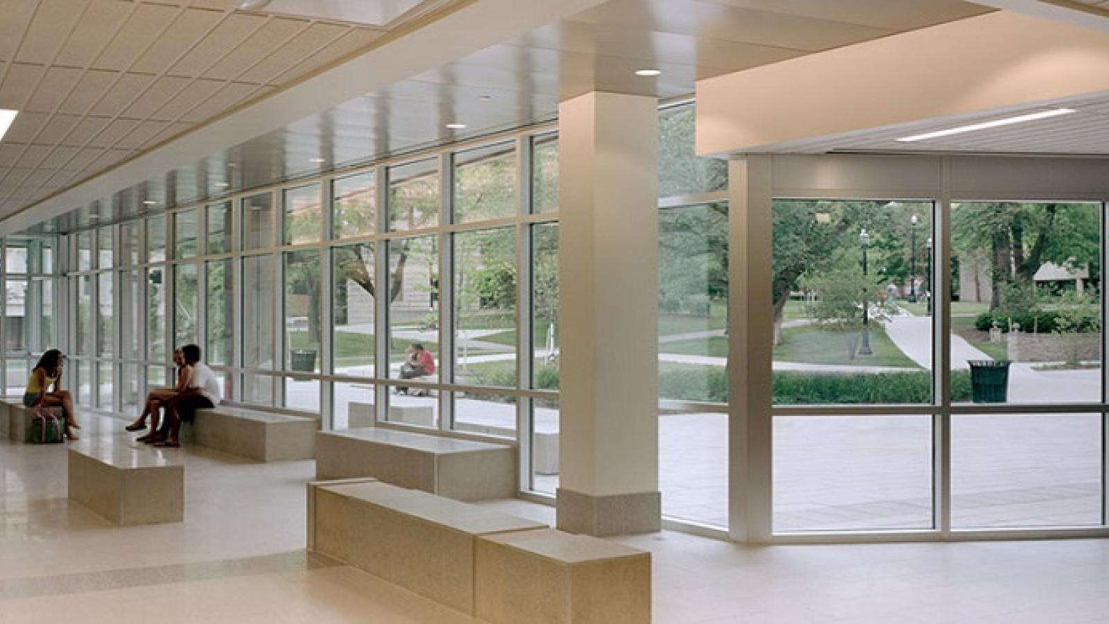 The lobby of the Psychology Building