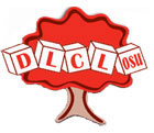 Picture of Tree with blocks spelling out D.L.C.L. OSU for the Developmental Language & Cognition Lab (DLCL)